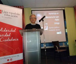 Victorino Mayoral, presidente de la Liga de la Educación.