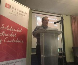 Juan Ramón Lagunilla, secretario general de la Liga de la Educación.