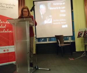 Isabel Ortega, sobrina del homenajeado.